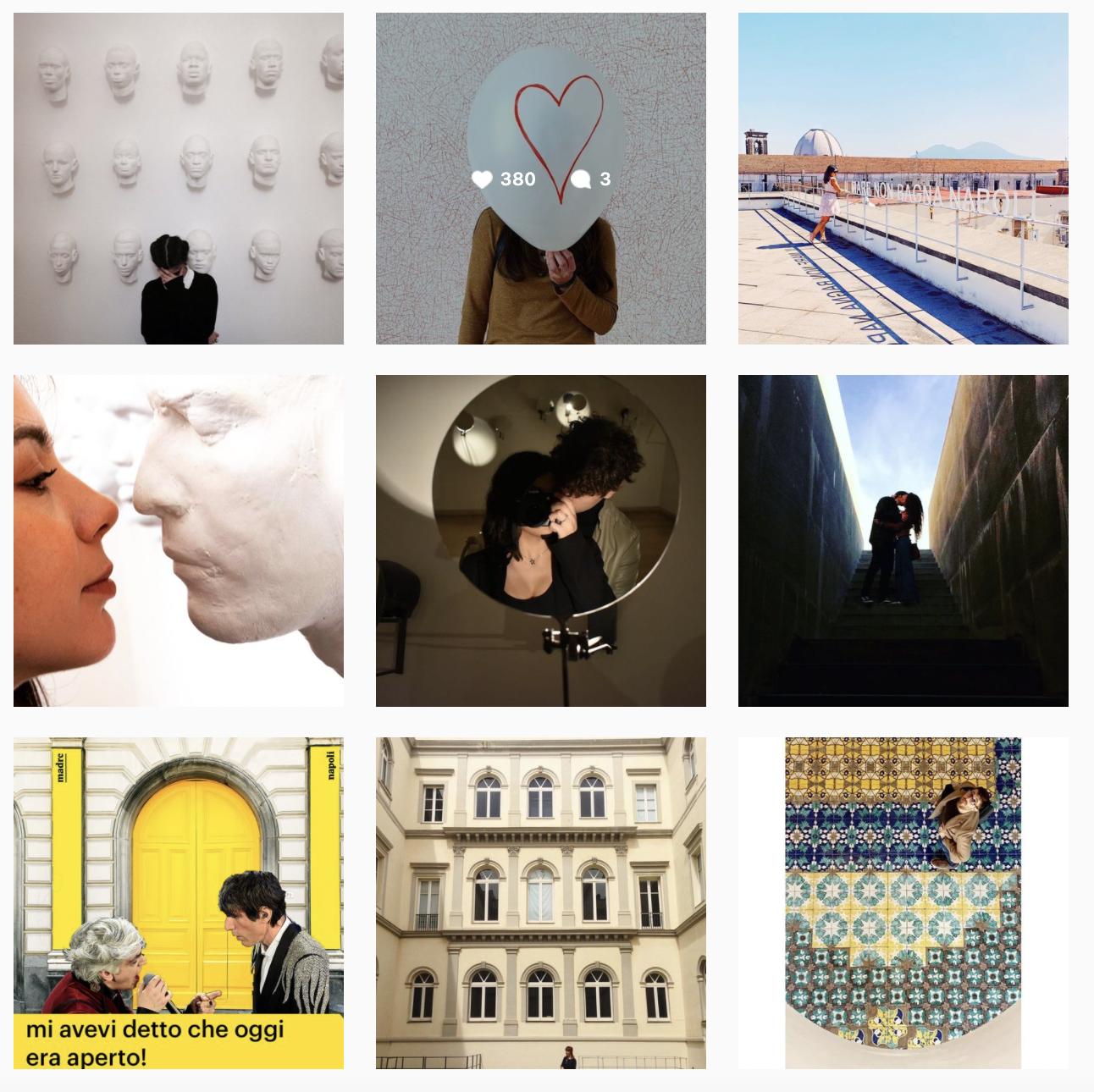 Album collettivo del museo Madre su Instagram