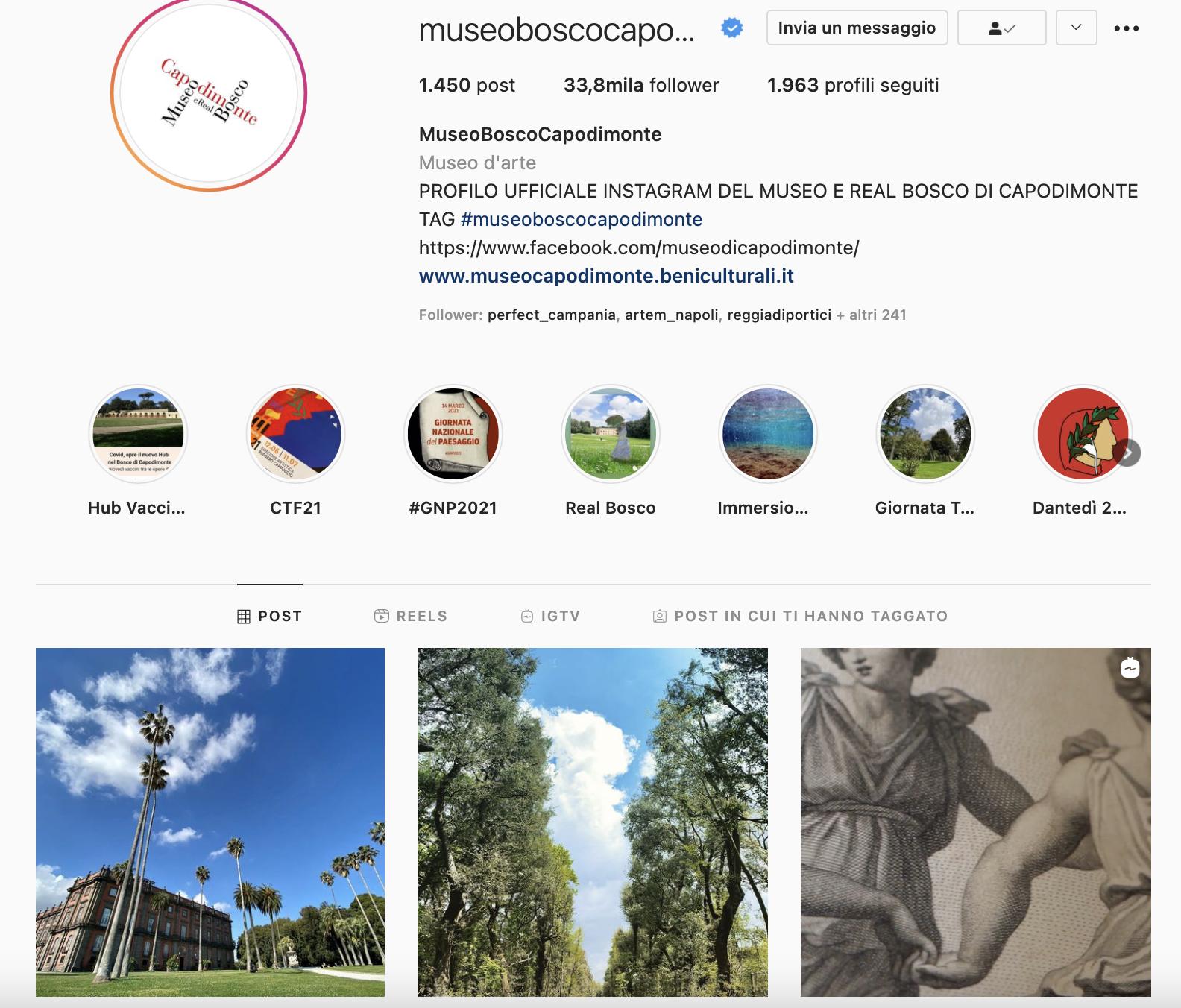 Feed Instagram Museo e Real Bosco di Capodimonte