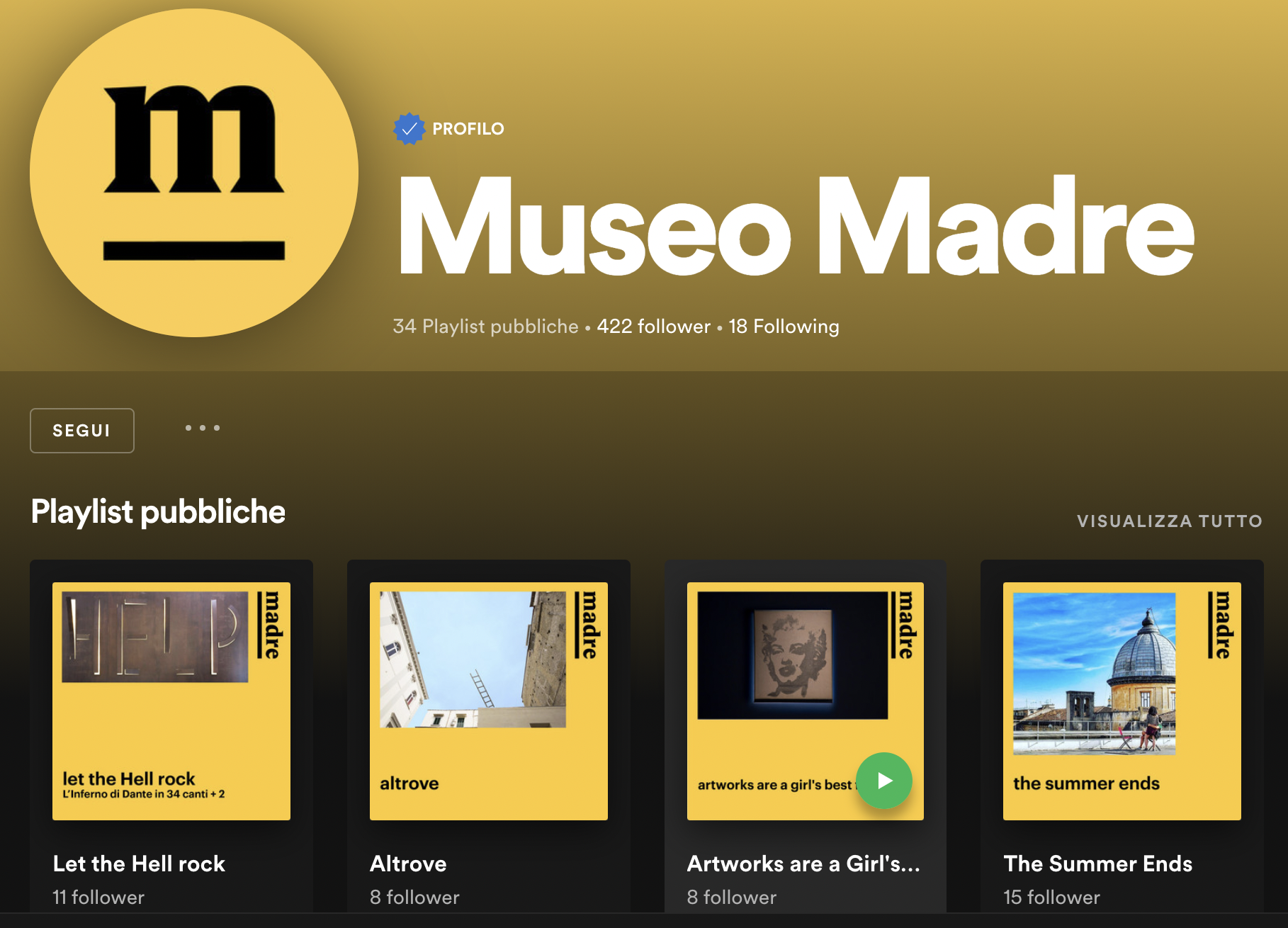 Spotify Museo Madre